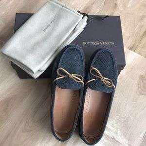 BOTTEGA VENETA Suede Loafer Medium Grey